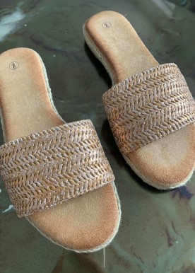 Amna slipper rose/gold