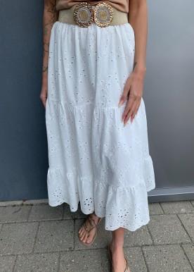 Cira nederdel hvid