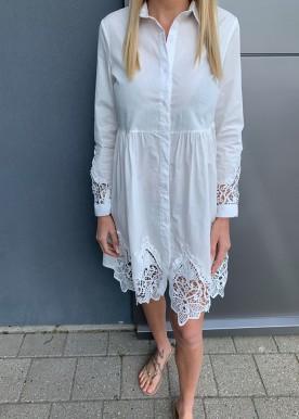 Rina skjorte kjole hvid