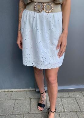 Malie nederdel hvid