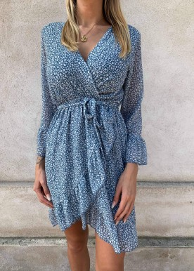 Bine flower dress Blue