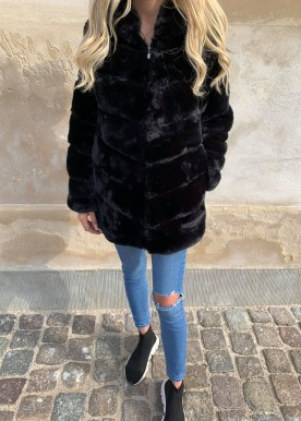 Copperose faux fur black