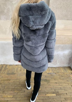 copperose faux fur grey