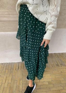 Dot skirt green