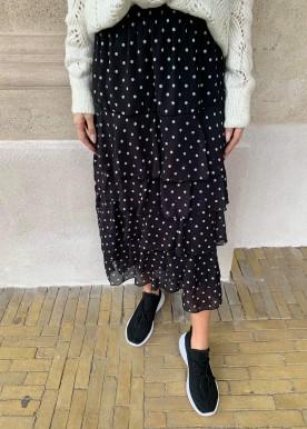 Dot skirt Black
