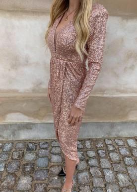 lina palliet dress rosa